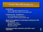 severe tbi btf guidelines36