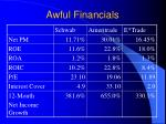 awful financials