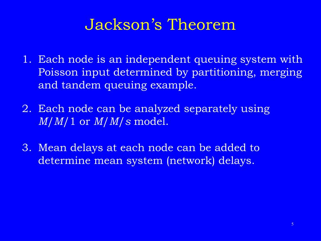 Jackson's Theorem
