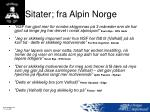 sitater fra alpin norge