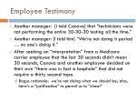 employee testimony33