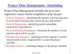 project time management scheduling
