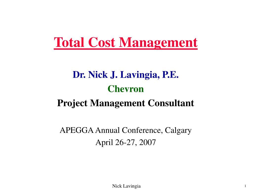 total cost management l.