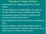 results of treaty of paris