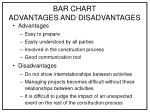bar chart advantages and disadvantages