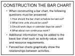 construction the bar chart