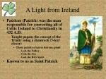 a light from ireland