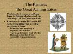 the romans the great administrators11