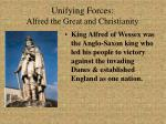 unifying forces alfred the great and christianity