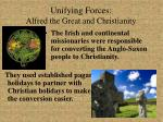 unifying forces alfred the great and christianity15