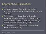 approach to estimation