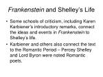 frankenstein and shelley s life