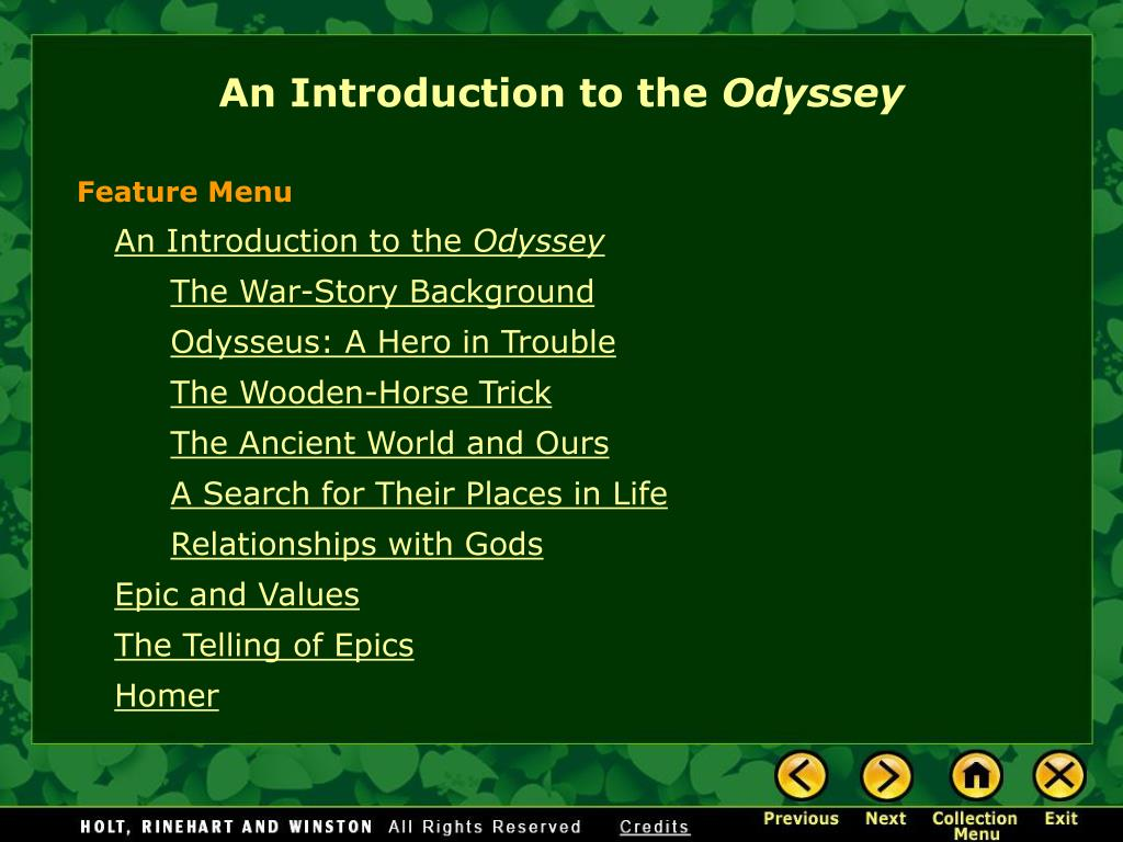 an introduction to the odyssey l.