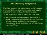 the war story background
