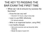 the key to passing the bar exam the first time12