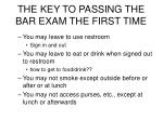 the key to passing the bar exam the first time19