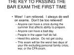 the key to passing the bar exam the first time24
