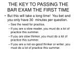 the key to passing the bar exam the first time27