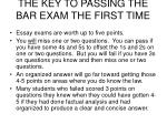 the key to passing the bar exam the first time28