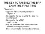 the key to passing the bar exam the first time3