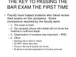 the key to passing the bar exam the first time8