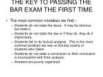 the key to passing the bar exam the first time9