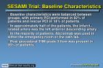 sesami trial baseline characteristics