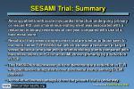 sesami trial summary