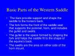 basic parts of the western saddle