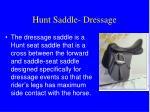 hunt saddle dressage