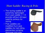 hunt saddle racing polo