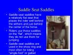 saddle seat saddles