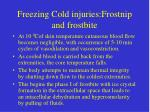 freezing cold injuries frostnip and frostbite
