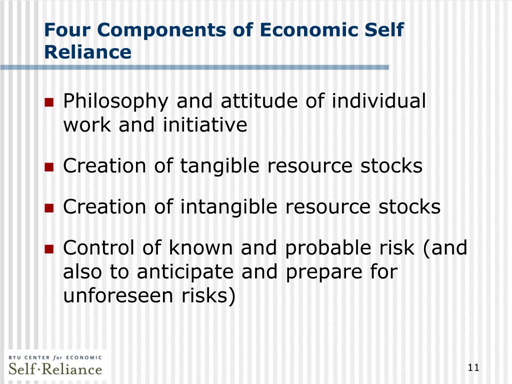 Four Components of Economic Self Reliance