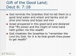 gift of the good land deut 8 7 18