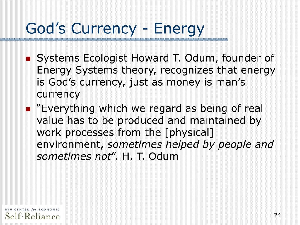 God's Currency - Energy