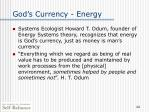 god s currency energy