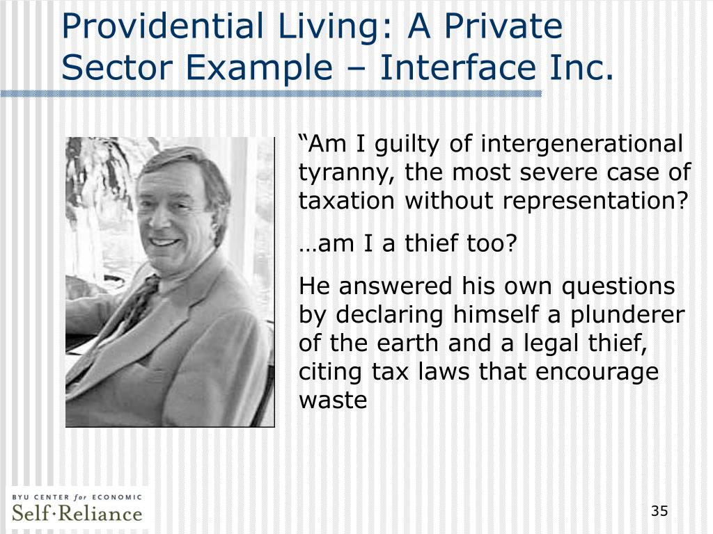 Providential Living: A Private Sector Example – Interface Inc.