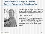 providential living a private sector example interface inc