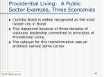 providential living a public sector example three economies