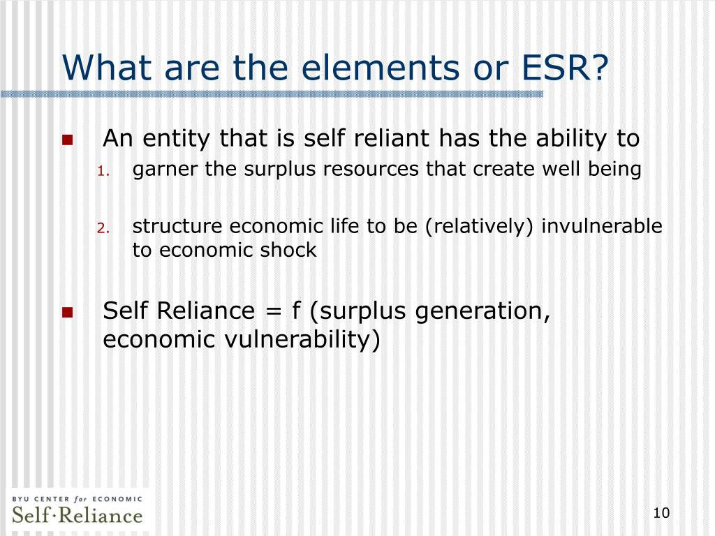 What are the elements or ESR?