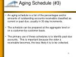 aging schedule 3