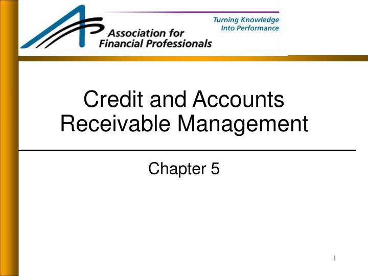 credit and accounts receivable management n.