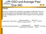 dso and average past due 216