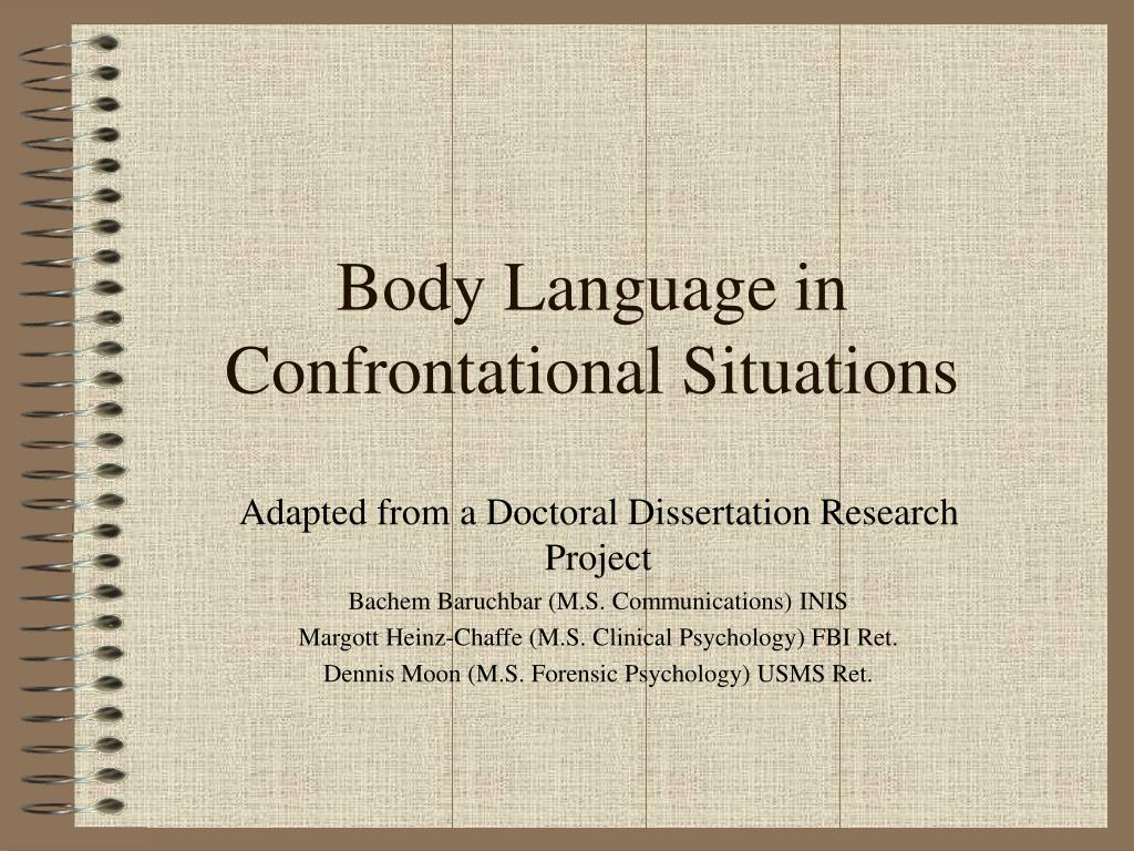 body language in confrontational situations l.