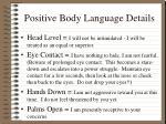 positive body language details