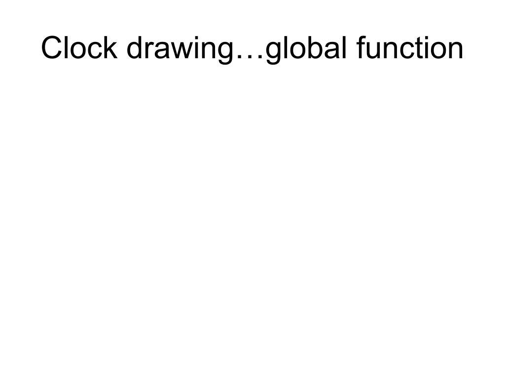 Clock drawing…global function