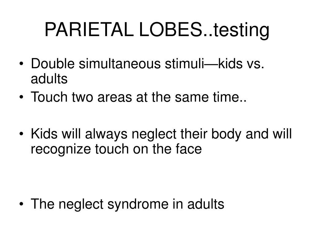 PARIETAL LOBES..testing