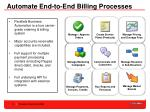 automate end to end billing processes