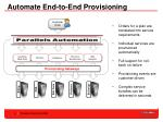 automate end to end provisioning